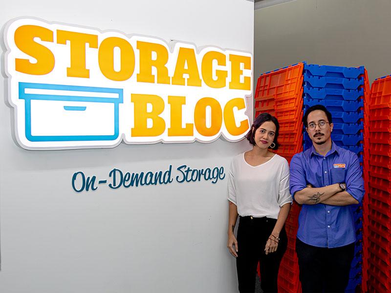 Storage Bloc Founders Jessica and David Buri